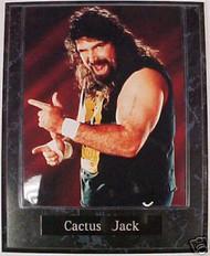Mick Foley Cactus Jack WWE Wrestling 10.5x13 Plaque - PLAQUE-0179
