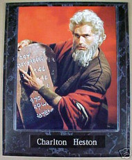 Charlton Heston Ten Commandments 10.5x13 Movie Plaque