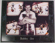 Bobby Orr Boston Bruins 1970 & 1972 NHL Stanley Cup Champions 10.5x13 Plaque