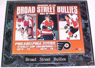 Bernie Parent, Bobby Clarke & Bill Barber Flyers 10.5x13 Plaque