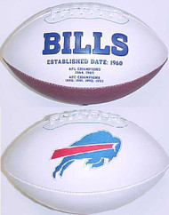 Buffalo Bills Rawlings Jarden Sports Signature NFL Full Size Fotoball Football Current Version - DEFLATED without Box/Pen