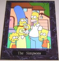 The Simpsons 10.5 x 13 Legendary Prime Time Comedy Cartoon Plaque