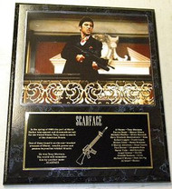 "Al Pacino Scarface ""Machine Gun"" 15 x 12 Movie Plaque"