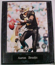 Aaron Brooks New Orleans Saints 10.5x13 Plaque