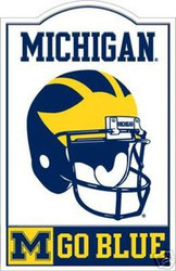 Michigan Wolverines NCAA Football Riddell Nostalgic Sign