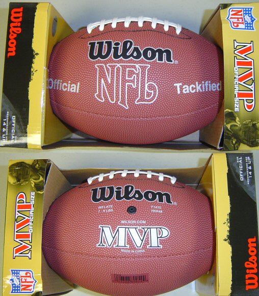 new concept a37df b0778 Wilson Official NFL MVP Football Model #F1415 - GT Wholesale