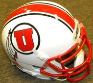 Utah Utes with Stripe Schutt NCAA College Football Authentic Team Mini Helmet