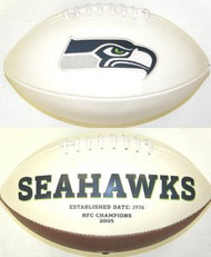 Seattle Seahawks Fotoball Sports Signature NFL Full Size Football Current Logo without SB Logo