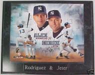 Alex Rodriguez & Derek Jeter Yankees 10.5x13 Plaque