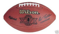 Super Bowl 26 XXVI Wilson Official NFL Game Football Redskins vs. Bills