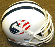 BYU Brigham Young Cougars Stars and Stripes 9/11 Never Forget Band of Brothers Schutt NCAA College Football Authentic Team Mini Helmet