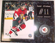 Daniel Alfredsson Ottawa Senators 15x12 Plaque With Puck