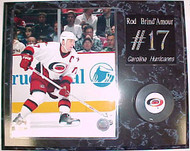 Rod Brind'Amour Carolina Hurricanes 15x12 Plaque With Puck