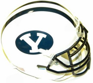 BYU Brigham Young Cougars White Schutt NCAA College Football Authentic Team Mini Helmet
