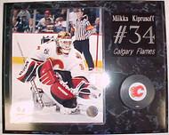 Miikka Kiprusoff Calgary Flames 15x12 Plaque With Puck