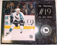 Joe Thornton San Jose Sharks 15x12 Plaque With Puck