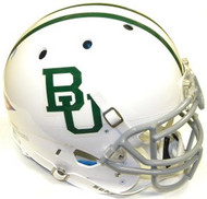 Baylor Bears Alternate White w/ Green Stripes Schutt NCAA College Football Team Full Size Authentic XP Helmet