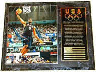 Lebron James Team USA Olympic Games 15x12 Gold Medal Plaque