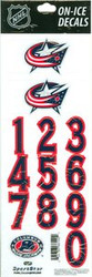 Columbus Blue Jackets Sportstar Officially Licensed Authentic Center Ice NHL Hockey Helmet Decal Kit #2