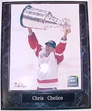 Chris Chelios Detroit Red Wings Champions 10.5x13 Plaque