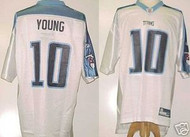 Vince Young Tennessee Titans White Custom Reebok Licensed Mesh Souvenir Jersey Size XL