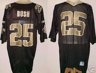 Reggie Bush New Orleans Saints Black Custom Reebok Licensed Mesh Souvenir Jersey Size XL