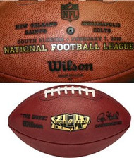 Super Bowl 44 XLIV Wilson Official NFL Game Football New Orleans Saints vs. Indianapolis Colts