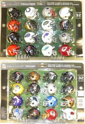 NFL Riddell Standings Helmet Tracker Set & 2 Display Boards