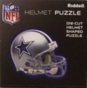 "Dallas Cowboys Riddell NFL 16""x16"" Helmet Puzzle 100 Pieces"