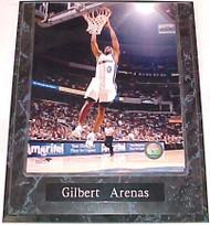 Gilbert Arenas Washington Wizards 10.5x13 Plaque