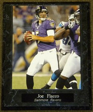 Joe Flacco Baltimore Ravens NFL Football 10.5x13 Plaque