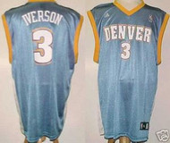 Allen Iverson Denver Nuggets #3 Adidas XL Road Jersey