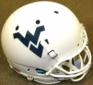 West Virginia Mountaineers Matte White Schutt NCAA College Football Team Full Size Replica XP Helmet