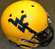 West Virginia Mountaineers Matte Gold Schutt NCAA College Football Team Full Size Replica XP Helmet