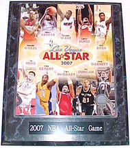 2007 NBA All-Star Game Starters 10.5x13 Plaque