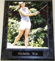 Michelle Wie Sexy LPGA Golf Pro 10.5x13 Plaque