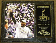Ray Lewis Baltimore Ravens Super Bowl XLVII 47 Champions 12x15 Plaque