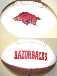 Arkansas Razorbacks Rawlings Jarden Sports Signature NCAA Full Size Fotoball Football - BLOWN UP with BOX & PEN
