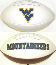 West Virginia Mountaineers Rawlings Jarden Sports Signature NCAA Full Size Fotoball Football - BLOWN UP with BOX & PEN
