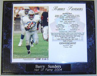 Barry Sanders Hall of Fame 2004 Detroit Lions 10.5x13 Plaque