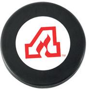 Atlanta Flames NHL Team Logo Autograph Throwback Hockey Puck 1972-1980