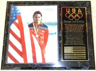 Greg Louganis Team USA Olympic Games 15x12 Gold Medal Plaque