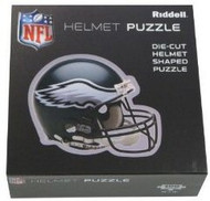 "Philadelphia Eagles Riddell NFL 16""x16"" Helmet Puzzle 100 Pieces"