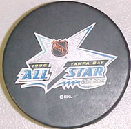 1999 NHL All-Star Game Logo Hockey Puck Hosted By The Tampa Bay Lightning