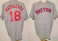 Daisuke Matsuzaka Boston Red Sox Majestic Road Custom XL Jersey