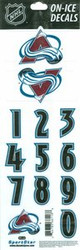 Colorado Avalanche Sportstar Officially Licensed Authentic Center Ice NHL Hockey Helmet Decal Kit