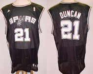 Tim Duncan San Antonio Spurs Black #21 Adidas XL Road Jersey