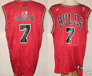 Ben Gordon Chicago Bulls Red #7 Adidas XL Road Jersey