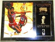 Julius Erving Philadelphia 76ers NBA Champions 12x15 Franchise History Plaque