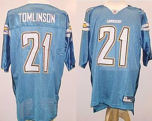 differently 30d01 3be2f Ladainian Tomlinson San Diego Chargers NFL Powder Blue ...